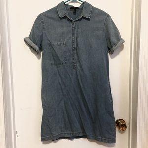 Forever 21 chambray denim short sleeve dress